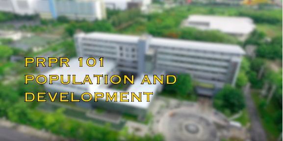 Population and Development PRPR101
