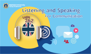 Listening and Speaking for Communication (ENROLLMENT IS CLOSED) LAEN 262